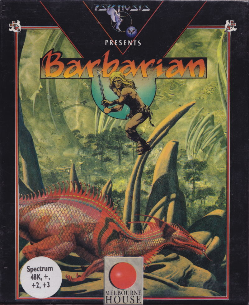 Barbarian ZX Spectrum Front Cover