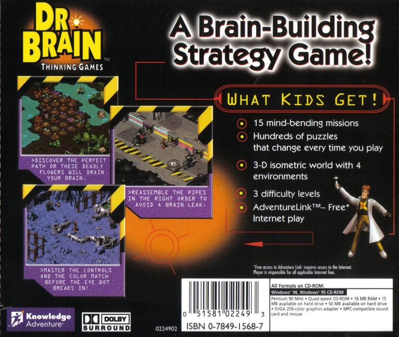 Dr. Brain Thinking Games: IQ Adventure Windows Back Cover