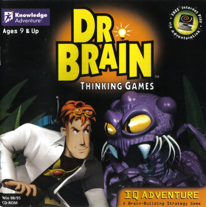 Dr. Brain Thinking Games: IQ Adventure Windows Front Cover