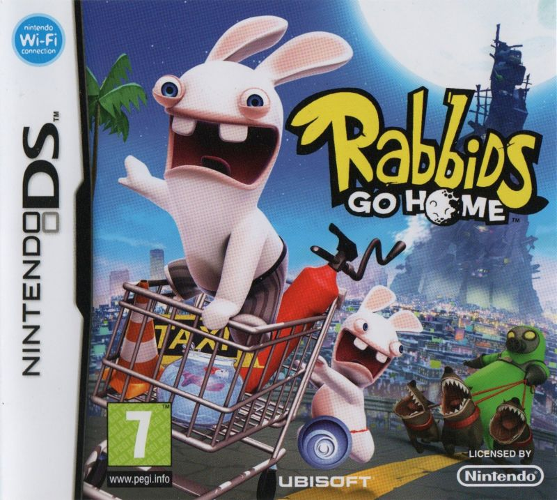 Rabbids Go Home Nintendo DS Front Cover