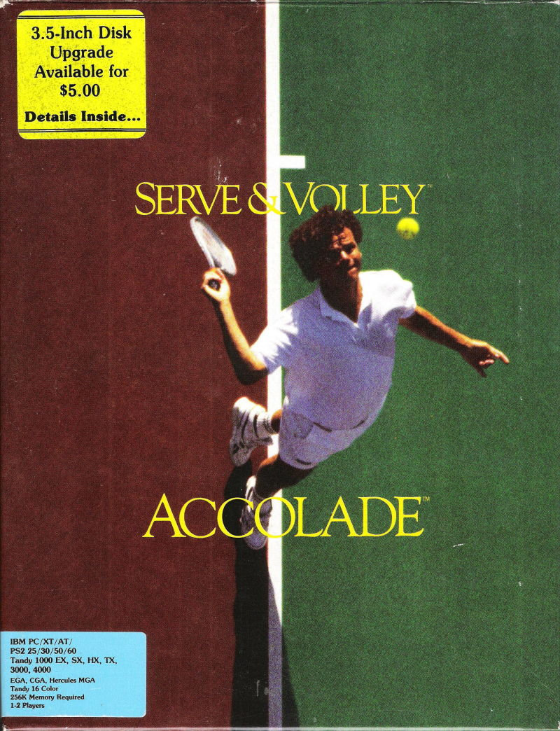 Serve & Volley DOS Front Cover