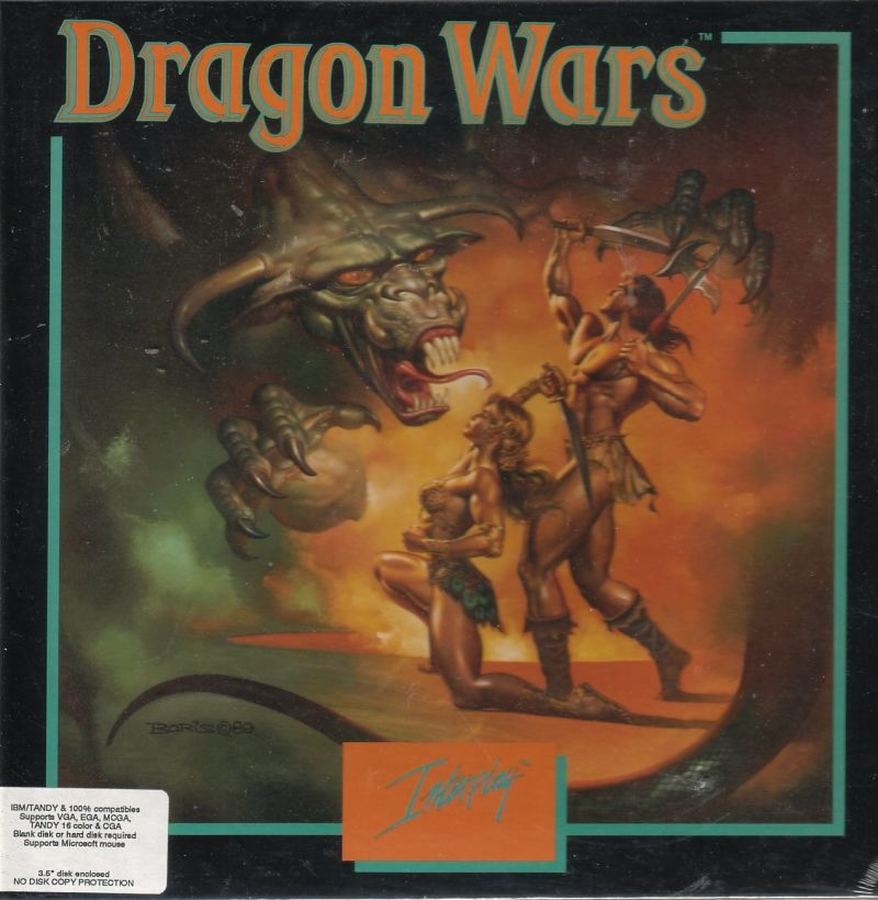 Dragon Wars Commodore 64 Front Cover