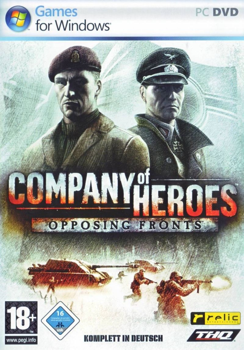 Company of Heroes (Gold Edition) Windows Other Opposing Fronts - Keep Case - Front