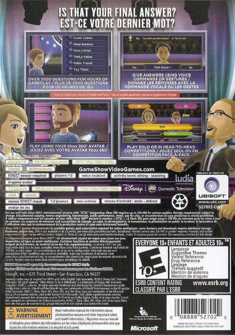 Who wants to be a millionaire 2012 edition news, achievements.