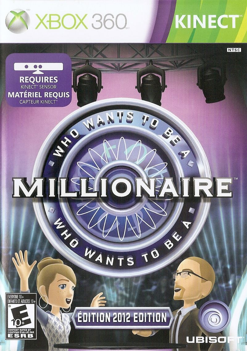 Who wants to be a millionaire: 2012 edition (2011) xbox 360 box.