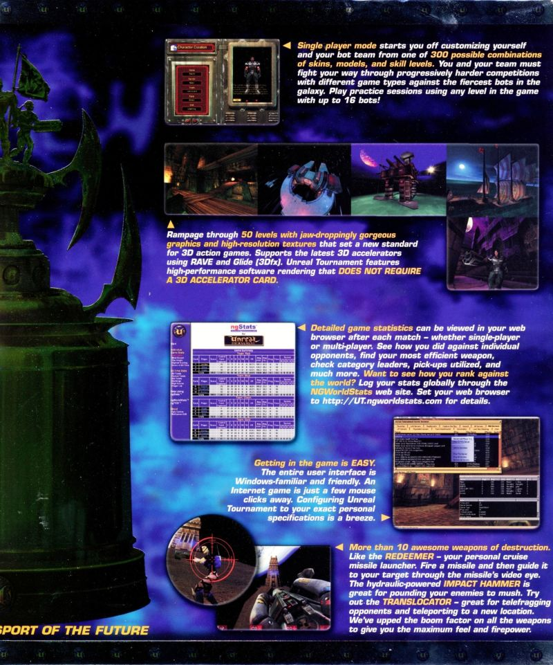 Unreal Tournament Macintosh Inside Cover Right