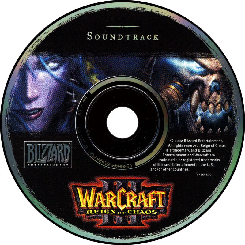 Warcraft III: Reign of Chaos (Collector's Edition) Windows Soundtrack Disc