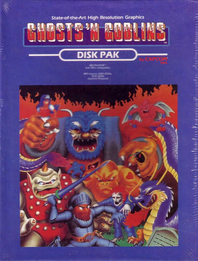 Ghosts 'N Goblins DOS Front Cover