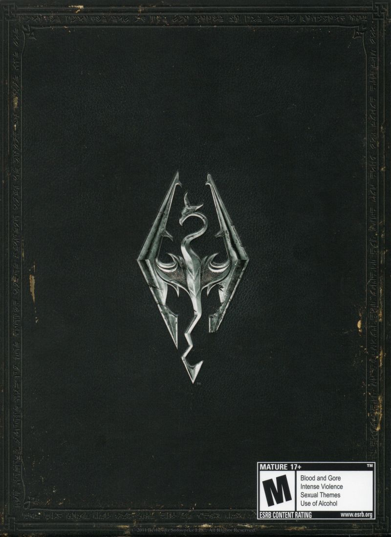 The Elder Scrolls V: Skyrim (Collector's Edition) Xbox 360 Other Cardboard Sleeve - Back