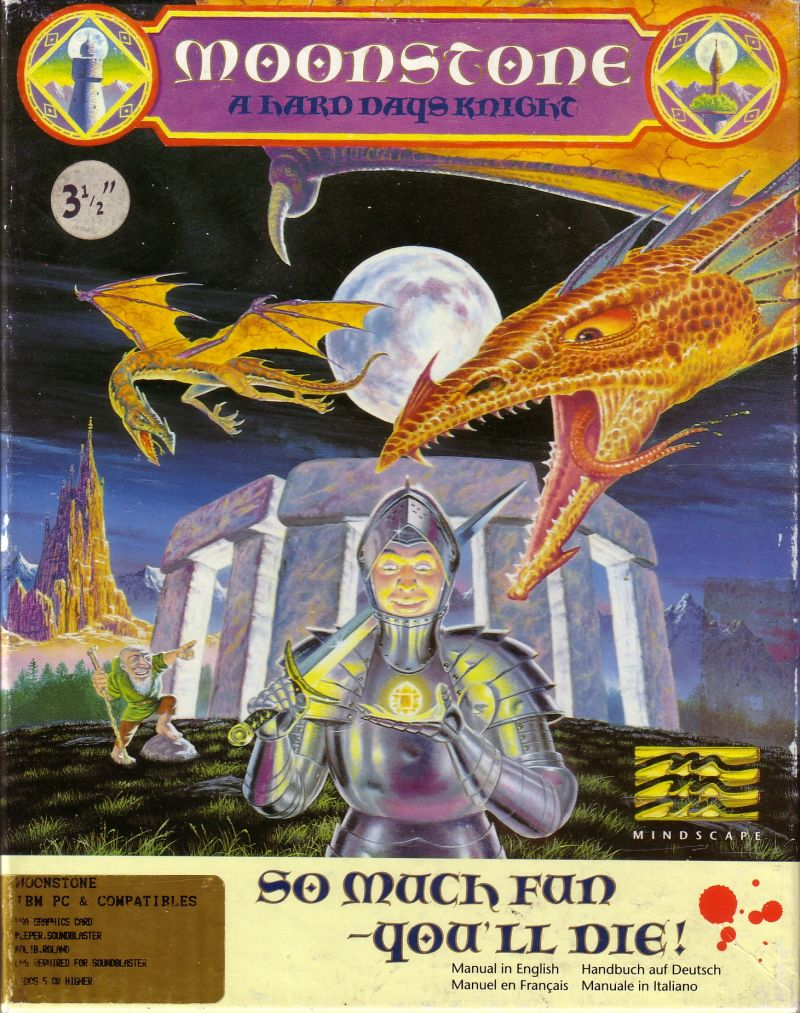 Moonstone: A Hard Days Knight DOS Front Cover