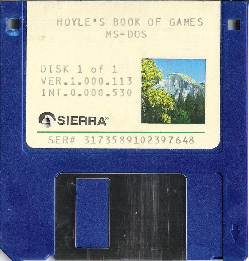 Hoyle: Official Book of Games - Volume 1 DOS Media 3,5'' Disk
