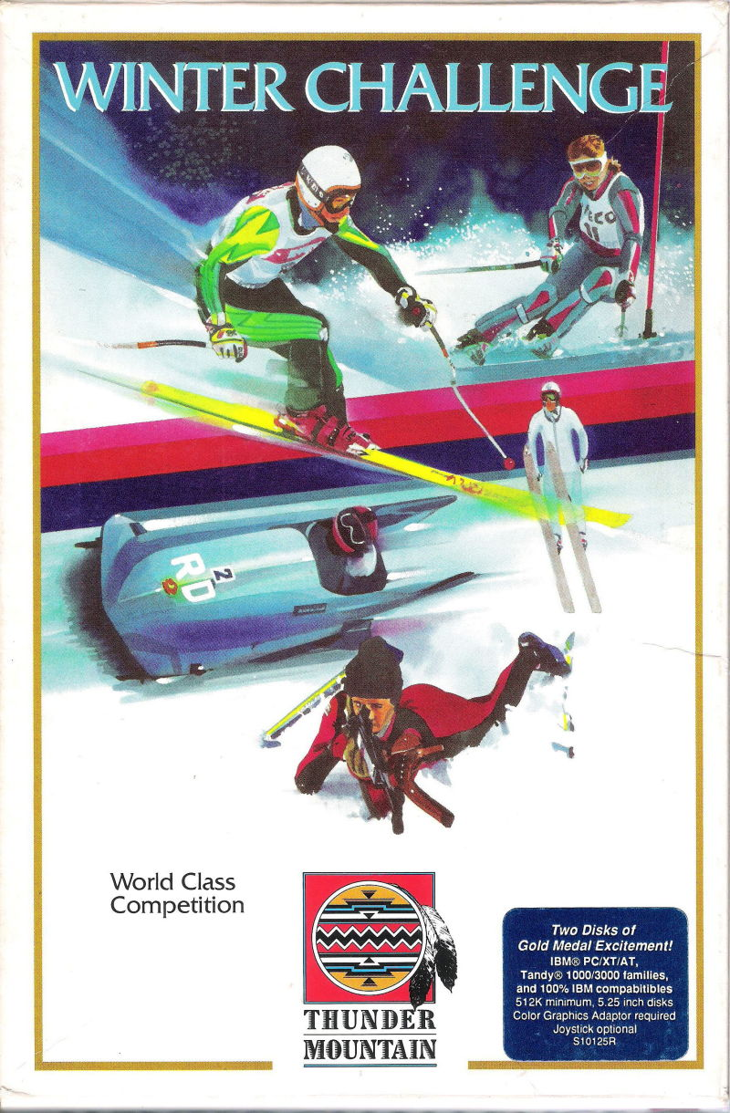 Winter Challenge: World Class Competition DOS Front Cover