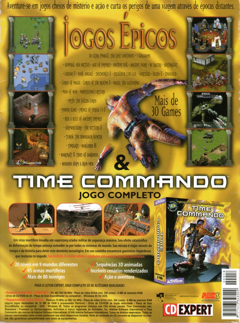 Time Commando DOS Back Cover