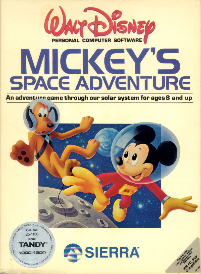 Mickey S Space Adventure For Apple Ii 1984 Mobygames