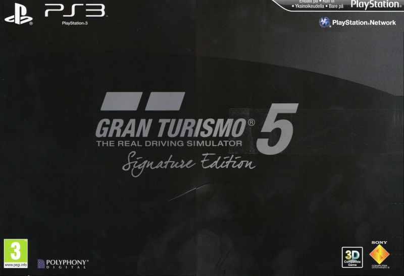 Gran Turismo 5 (Signature Edition) PlayStation 3 Front Cover