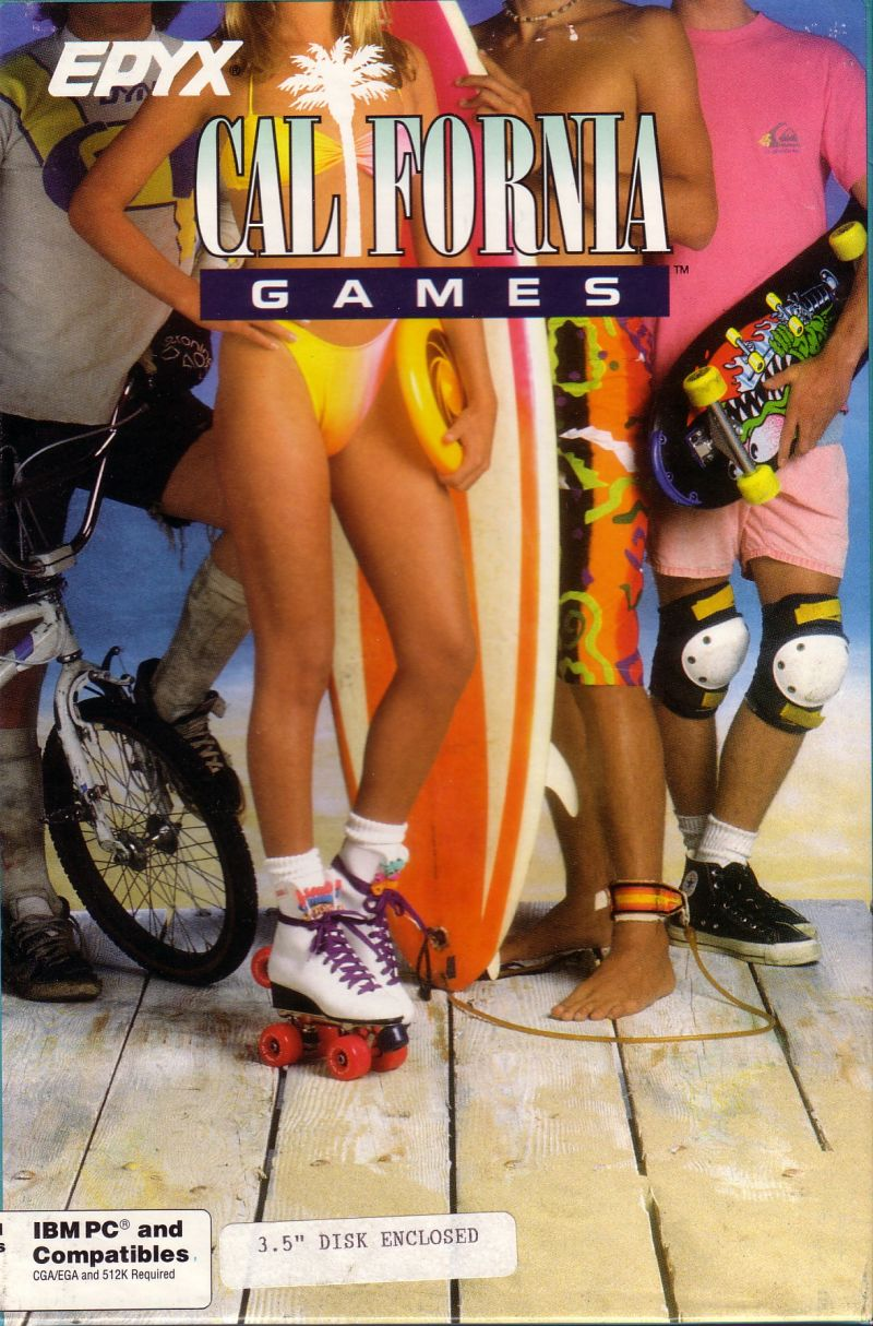 California Games DOS Front Cover