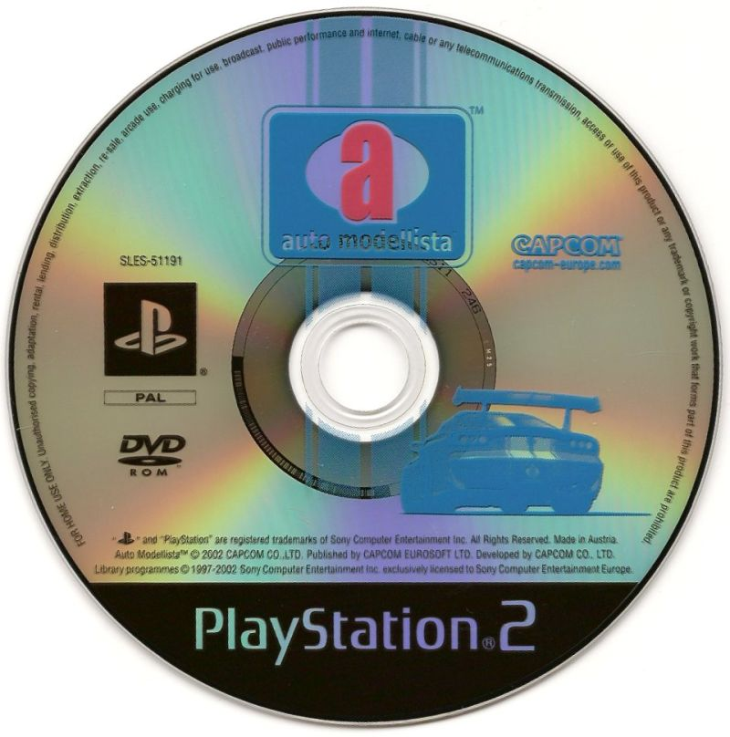 auto modellista PlayStation 2 Media