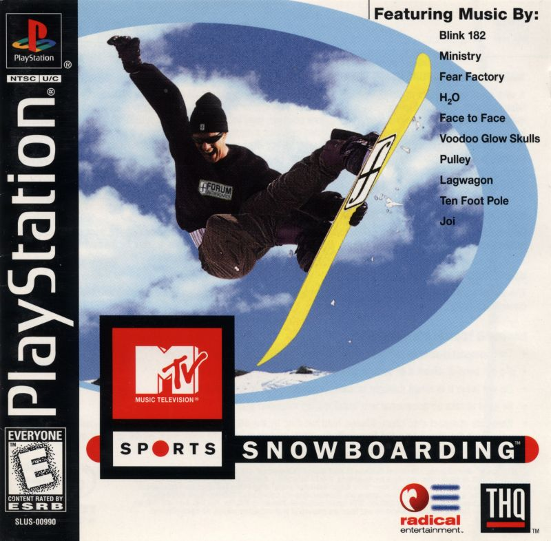 MTV Sports: Snowboarding PlayStation Front Cover