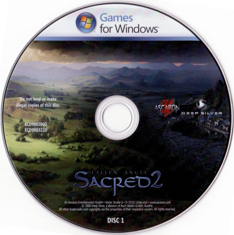 Sacred 2: Fallen Angel Windows Media Disc 1/2