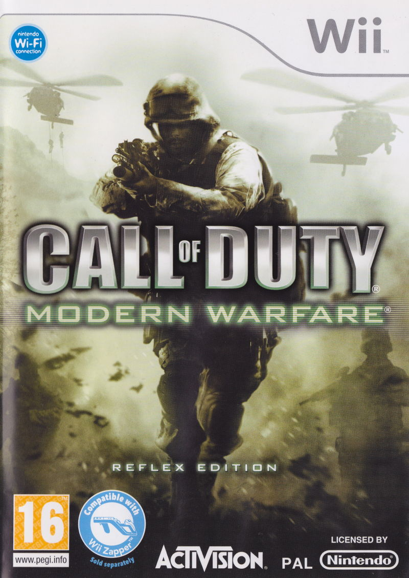 Call of Duty 4: Modern Warfare Wii Front Cover