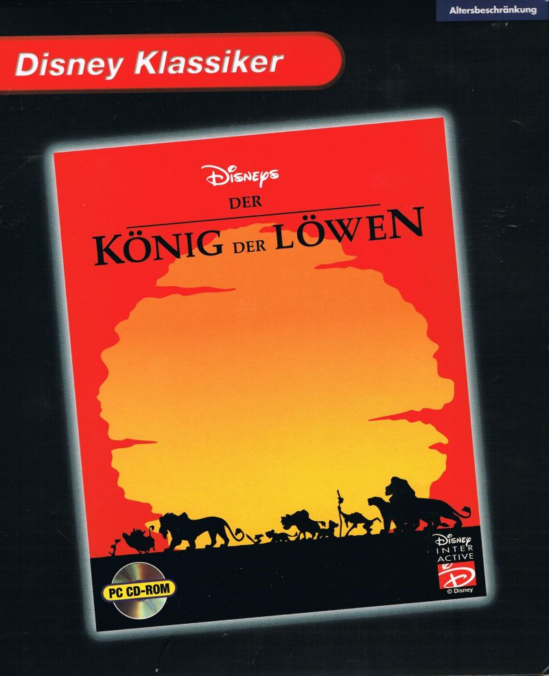 The Lion King Windows Front Cover