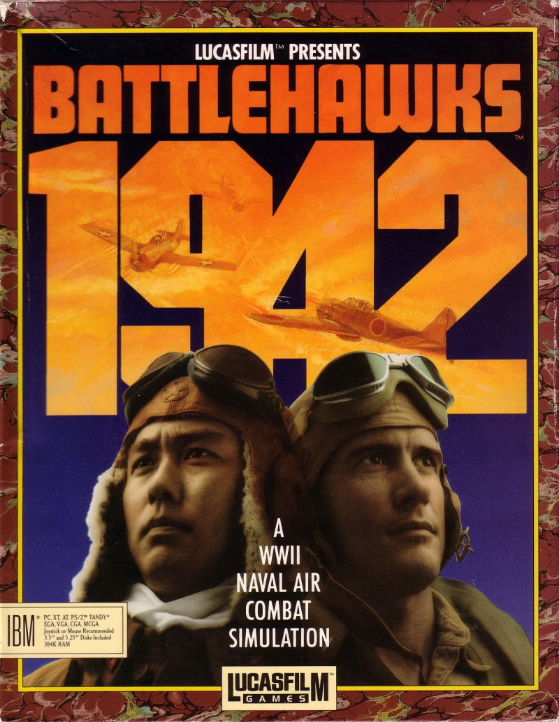 Battlehawks 1942 DOS Front Cover