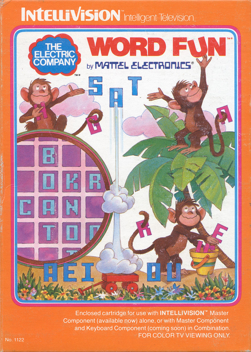 The Electric Company Word Fun Intellivision Front Cover