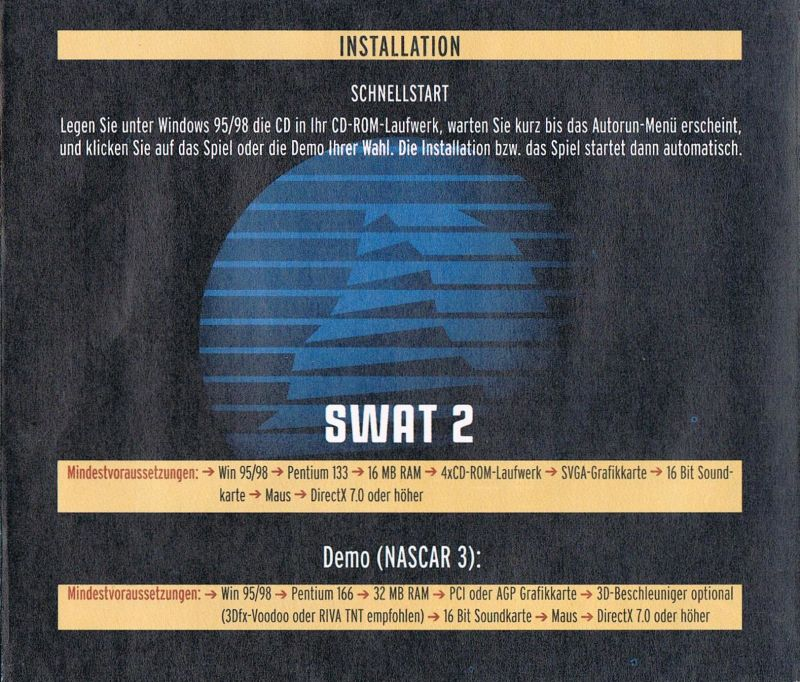 Police Quest: SWAT 2 Windows Back Cover