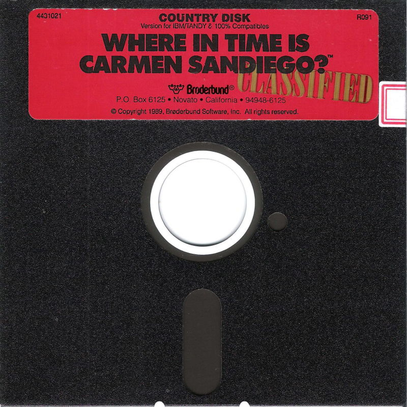 Where in Time Is Carmen Sandiego? DOS Media Country Disk