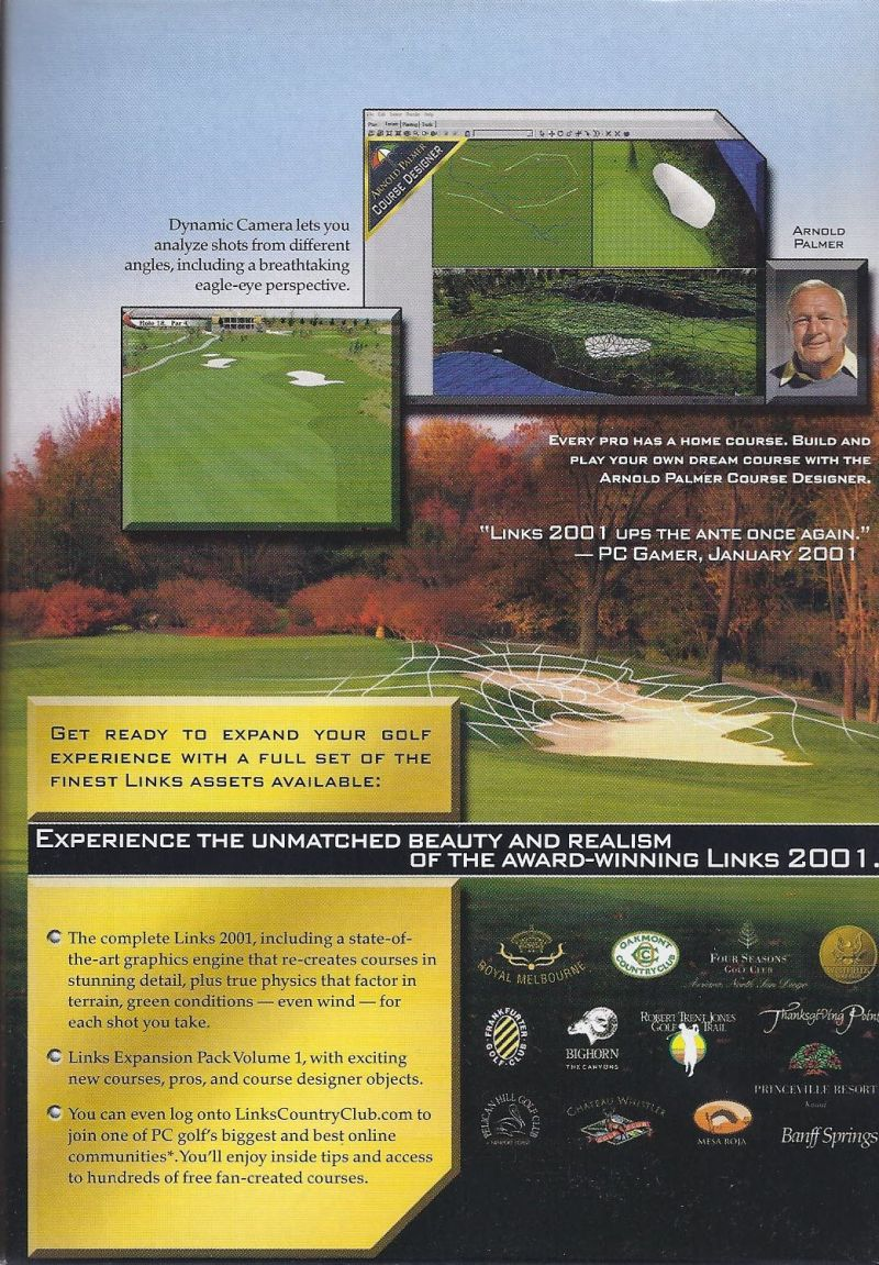 Links Championship Edition Windows Inside Cover Right