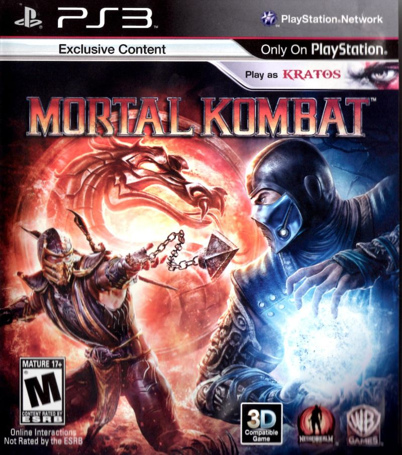 Mortal Kombat PlayStation 3 Front Cover