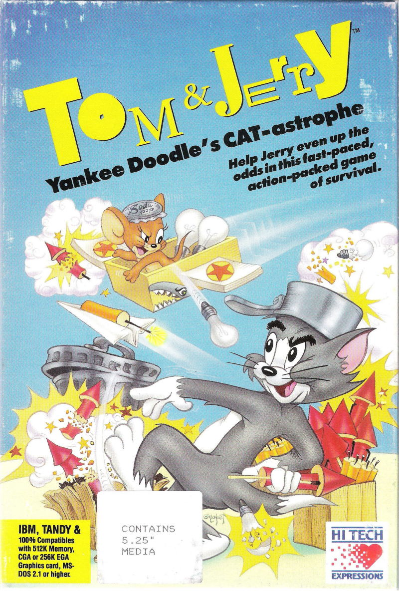 Tom & Jerry: Yankee Doodle's CAT-astrophe DOS Front Cover