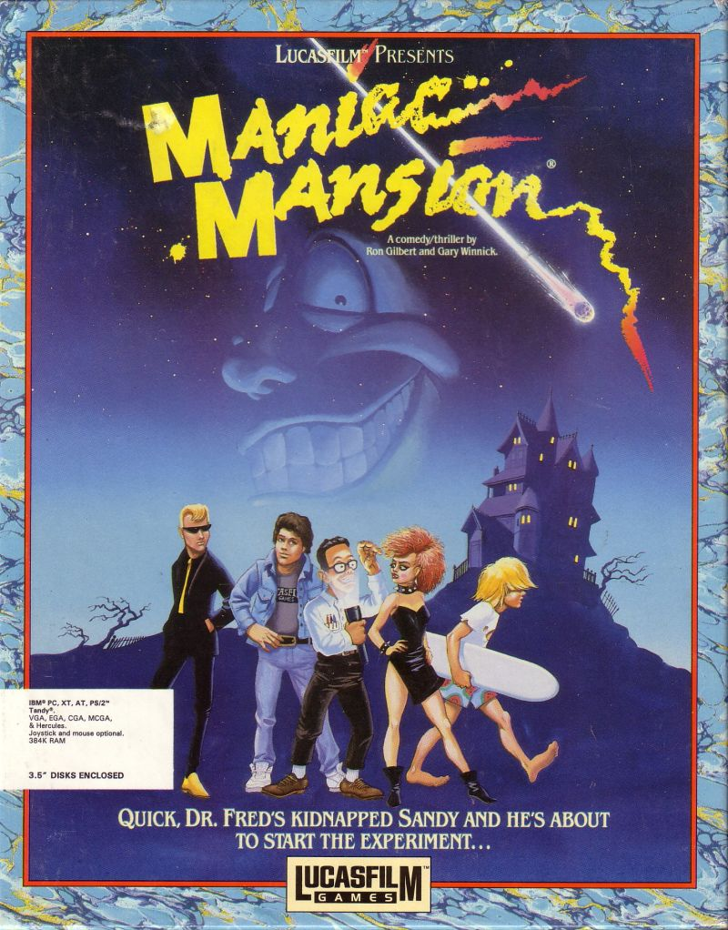 Maniac Mansion DOS Front Cover