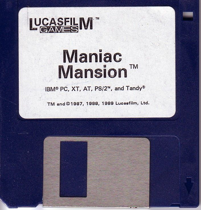 Maniac Mansion DOS Media