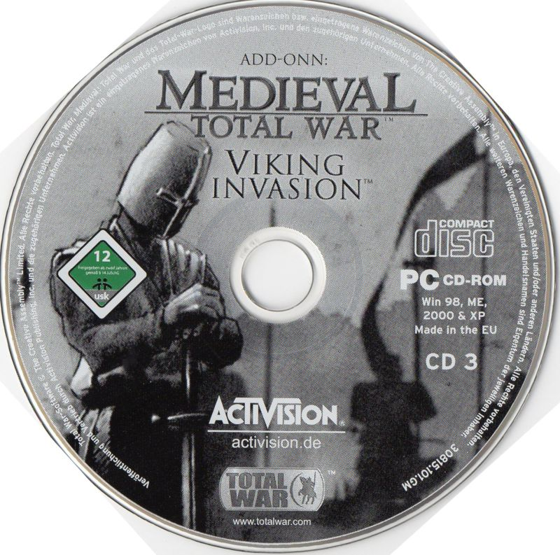Medieval: Total War - Battle Collection Windows Media Medieval - Viking Invasion Disc