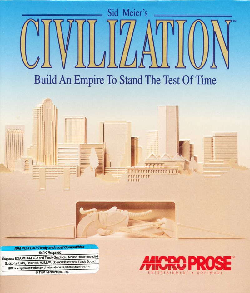 Sid Meier's Civilization DOS Front Cover