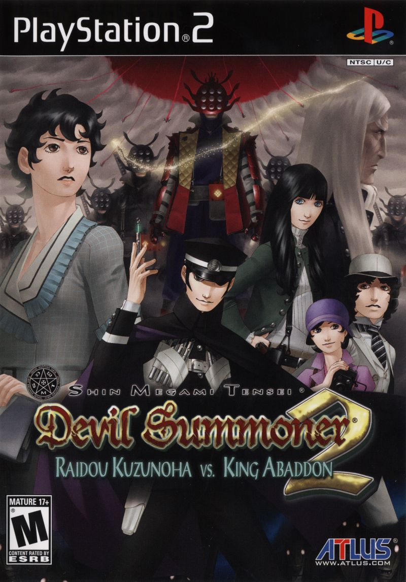 Shin Megami Tensei: Devil Summoner 2 - Raidou Kuzunoha vs. King Abaddon PlayStation 2 Front Cover