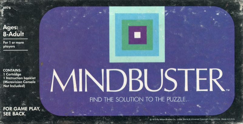 Mindbuster Microvision Front Cover