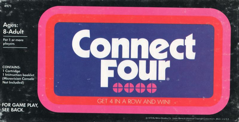 Connect Four Microvision Front Cover