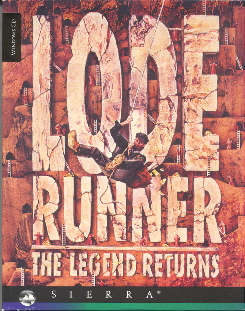 Lode Runner: The Legend Returns Windows 3.x Front Cover