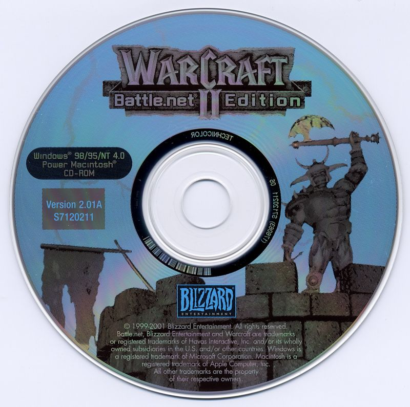 WarCraft III: Reign of Chaos (Exclusive Gift Set) Macintosh Media Warcraft II Disc
