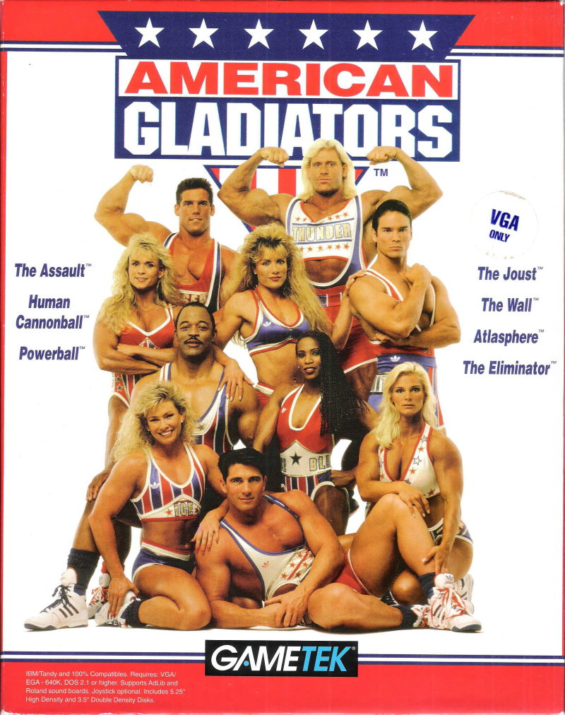 American Gladiators (1992) DOS box cover art - MobyGames