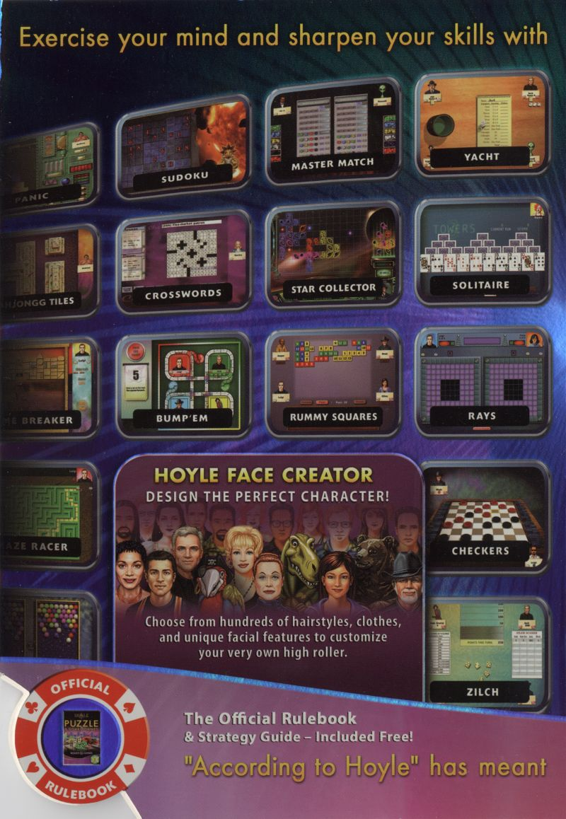 Hoyle Puzzle & Board Games Macintosh Inside Cover Left