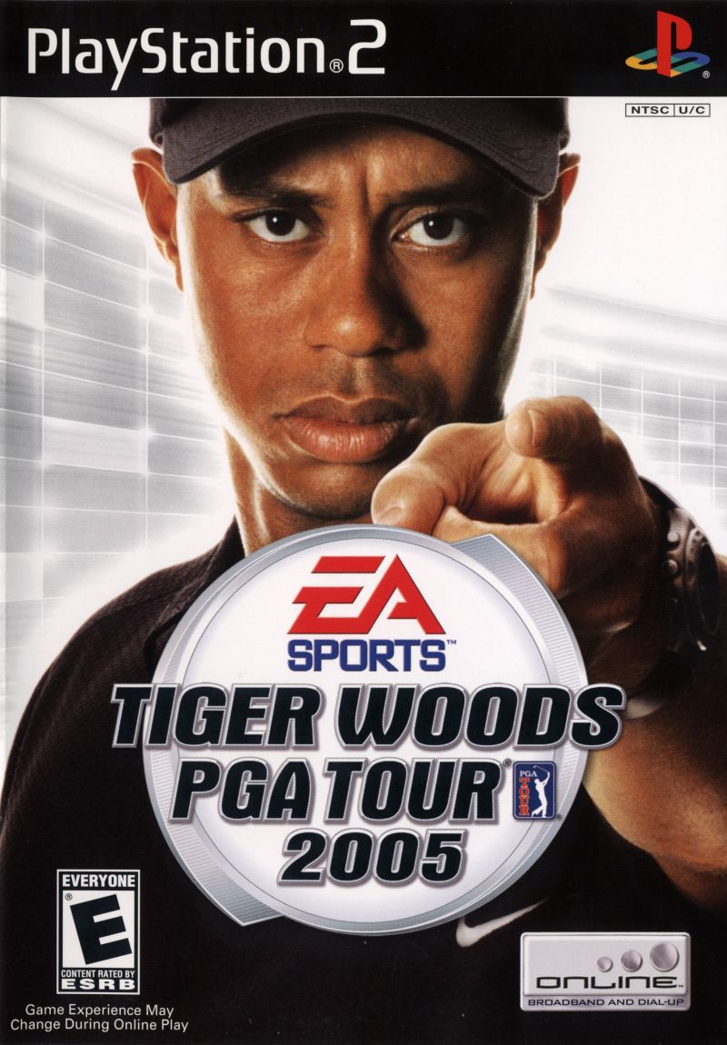 tiger woods pga tour 2005  2004  playstation 2 box cover