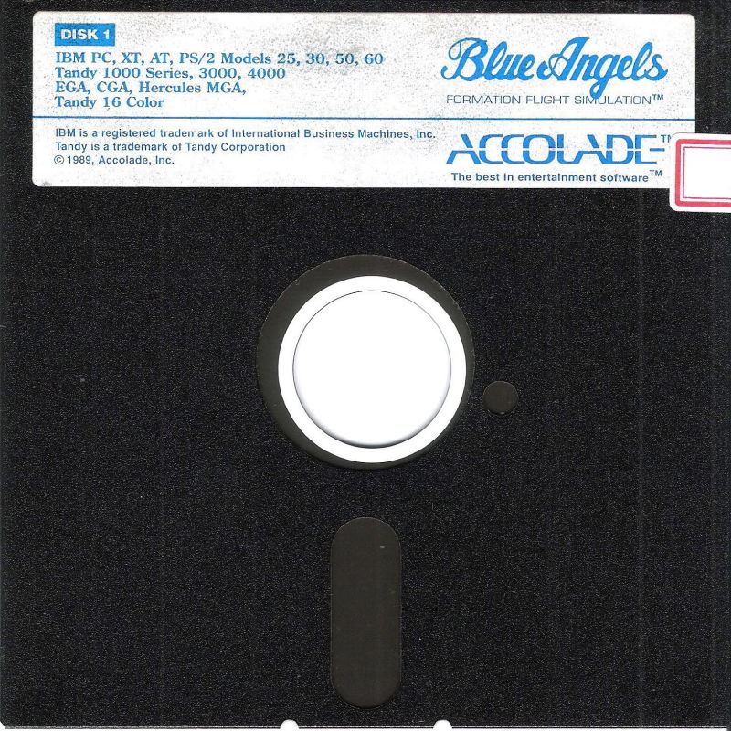 Blue Angels: Formation Flight Simulation DOS Media Disk (1/2)