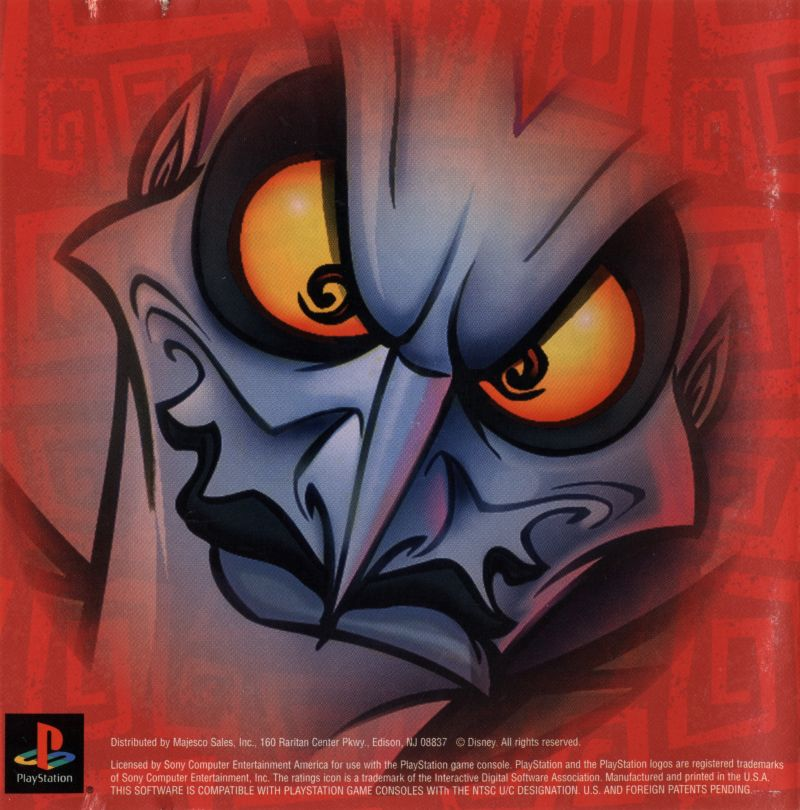 Disney's Hercules  PlayStation Inside Cover Front Reverse