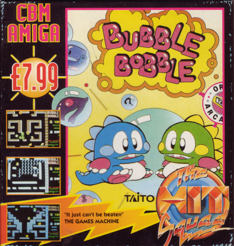 Bubble Bobble Amiga Front Cover