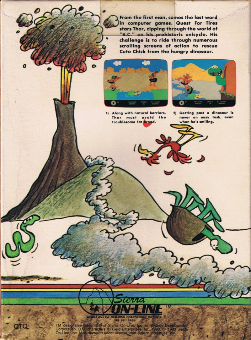 BC's Quest for Tires Commodore 64 Back Cover