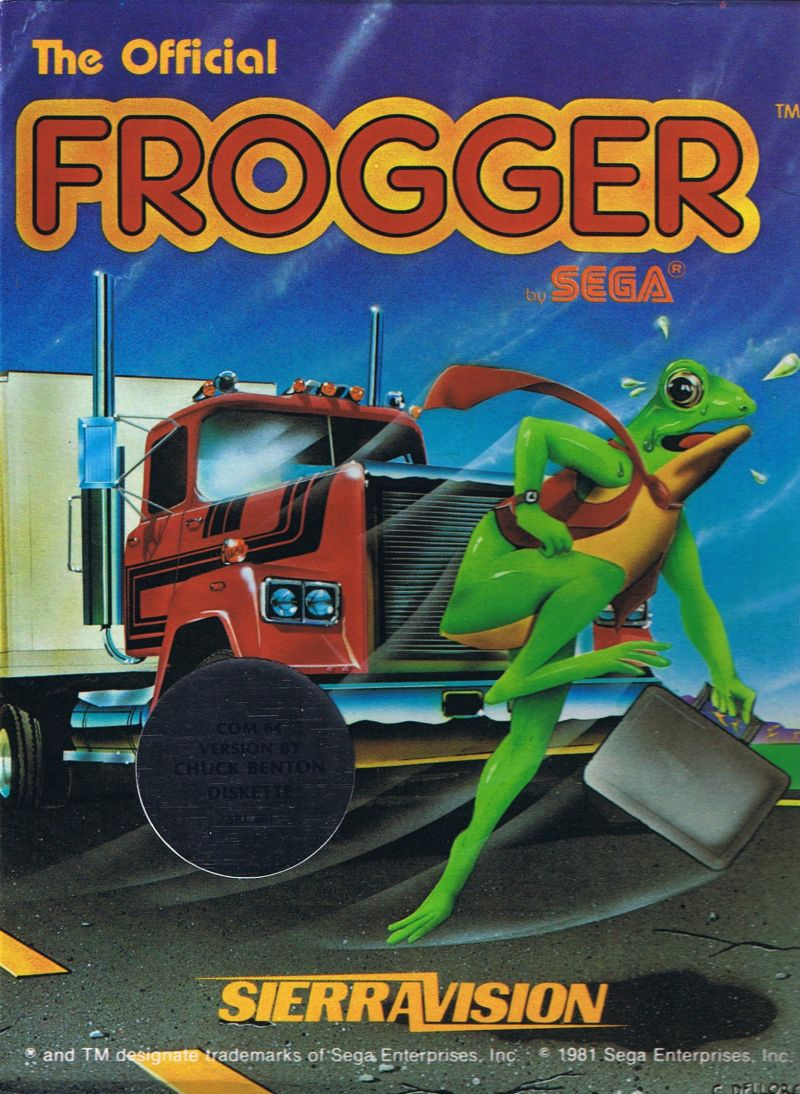 Frogger Commodore 64 Front Cover
