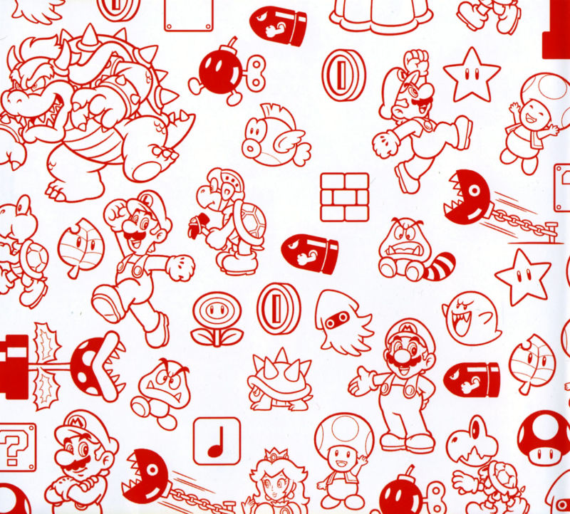 Super mario 3d land 2011 nintendo 3ds box cover art for Nintendo land coloring pages